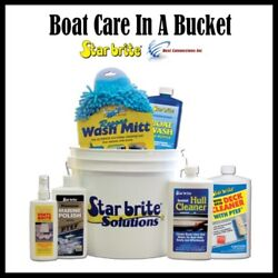 Starbrite Starter Kit 083701n Boat Care In A Bucket Wash Cleaner Polish Included