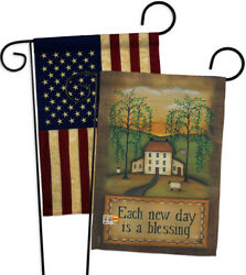 Each New Day-decorative Usa Vintage-applique Garden Flags Pack-gp100072-boaa