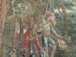 9x12 RARE Antique GENUINE French Tapestry religiouswarrior ca.1880 pictorial