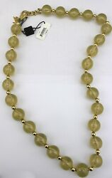350 Dolce And Gabbana Dandg Gold Tone Lucite Glittery Large Chunky Beaded Necklace