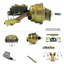 60-62 Chevy Truck Protouring V8 Mt Fw Mount Power 7 Dual Booster Kit Disc/disc