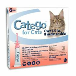 Catego Flea And Tick Control For Cats Over 1.5 Lb/8 Weeks 6 Doses
