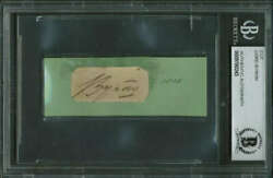 Lord Byron Signed Autographed 1x2.5 Vintage 1815 Album Page Beckett Bas