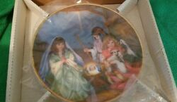Reco Silent Night Plate Vintage With Certificate Of Authenticity