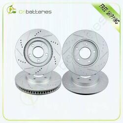 Front And Rear Drilled And Slotted Brake Rotors For Buick Lesabre Cadillac Pontiac
