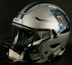 Carolina Panthers Nfl Authentic Gameday Football Helmet W/ Sf-2bd Facemask