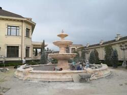 MONUMENTAL CARVED ESTATE INCREDIBLE MARBLE EUROPEAN STYLE FOUNTAIN - FES3