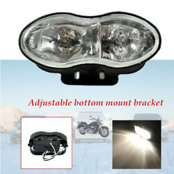 Adjustable Twin Motorcycle H3 12v 55w Bulbs Headlight Fit Streetfighter Bobbers