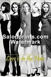 Hair Salon Poster - Love Is In The Air With Pretty Models Poster    Hsd-p-132-01