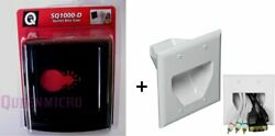Qbit Sq1000-d 2-gang Oscillating Outlet Saw + Recessed Low Voltage Wall Plate