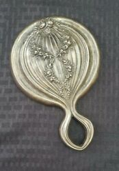 Antique Simpson Hall Miller Vanity Hand Mirror Sterling Silver