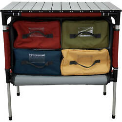 Camping Table Organizer Outdoor Camping Kitchen Compact Storage Portable Travel