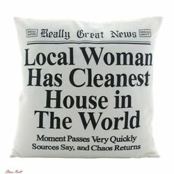 Home Decor Pillows Funky Indoor Adult Local Woman Functional Large Enesco New