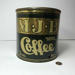 Large Antique M.j.b Coffee Can Tin || Why