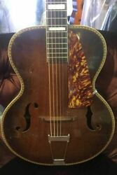 Nick Lucas 1930's Archtop Acoustic Guitar W/case Pre-owned Glen Quan Private