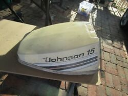 Evinrude Johnson Outboard 0393937 Motor Cover Cowl White 10hp - 15hp