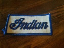 vintage dealer Indian motorcycle sewn on patch NOS