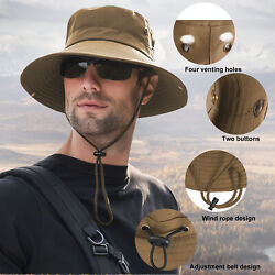 Outdoor Sun Visor Hat UV Protection Cap Hiking Fishing Travel for Women Men $9.95