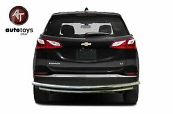 ATU 2018 2019 Chevy Equinox Stainless Rear Bumper Guard Protector Double Layer