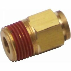 3/8 Npt To 3/8 Push Tube Air Fitting Hotrod Brass 1934 Model A Sbc Parts 428