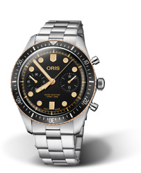 New Oris Diver Sixty-five Chronograph Stainless Steel Menand039s Watch 77177444354mb
