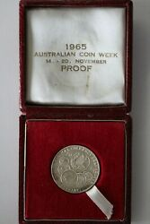 1966 Sydney Coin Club Decimal Currency Changeover Proof Silver Medal 3312466e6