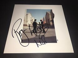 Pink Floyd Signed Wish You Were Here Lp X2 Roger Waters Nick Mason Album Proof