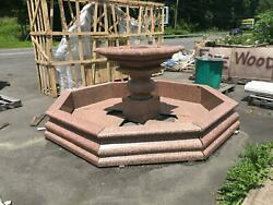 SOLID ROUGE RED GRANITE ESTATE OUTDOOR- INDOOR EUROPEAN DESIGN FOUNTAIN - JD1000