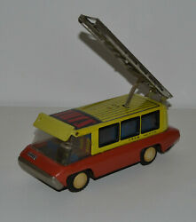 Rare Tin Toy Red China Truck Service Friction Car Mf 213