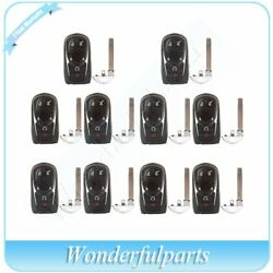 Qty(10) New For 2016 2017 Buick Uncut Replacement Keyless Smart Remo