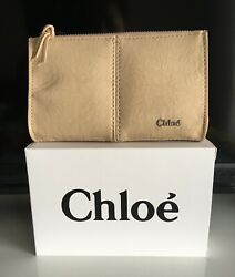 Chloe Change Makeup Bag Cosmetic travel pouch purse zippered 6quot; x 4quot; NIB $9.95