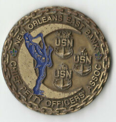 New Orleans East Bank Chief Petty Officer Usn Challenge Coin 1.75 Dia C-3