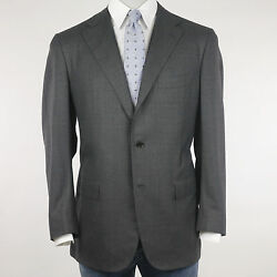 Kiton Suit Men's Grey Fine Checked Size 54 (Previously Rrp 4.480 00)