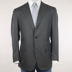 Kiton Suit Men's Grey Fine Checked Size 54 (Previously Rrp 4.480 00