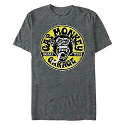 Gas Monkey Men's Logo Circle T-Shirt Officially Licensed Dallas Texas New  $14.99