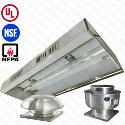 8and039 Ft Ul Restaurant Commercial Kitchen Makeup Air Hood Captiveaire System