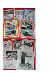 5 New Springfield Indian Motocycle Club Magazines 30's 40's Indian News Reprints