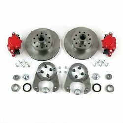 1928-1948 Ford Cars Disk Brake Conversion Red Calipers