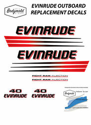 Evinrude Ficht Ram Injection 40hp Outboard Replacement Decals/stickers
