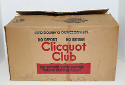 Cliquot Club Vintage Ginger Beer Lot Of 13 Bottles With Caps Eskimo With Box