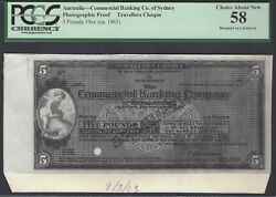 Australia - Commercial Banking Co. Of Sydney 5 Pounds 1963 Photographic Proof