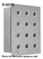 Clipsal 30-series Switch Plate 4-rows 12-gangs Less Mech Stainless Steel White