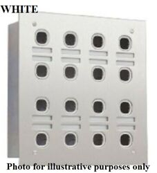 Clipsal Labelled Switch Plate 4-rows 16-gangs Less Mech Stainless Steel White