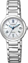 Citizen 2016 Exceed Eco-Drive Happy Flight Series Es9320-52W Womens Watch New