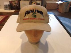 Vtg Nwt Michigan State Spartans Tan 1999 Starter Final Four Snapback Hat - Cool