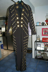 Brand New Elvis Tribute BLACK BUTTERFLY Jumpsuit