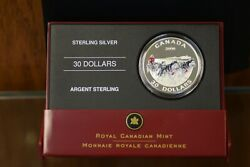 2006 30 Sterling Silver Dog Sled Team Coin
