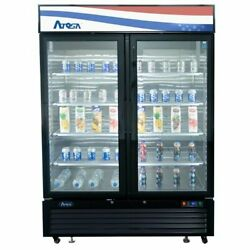Atosa Usa Mcf8723gr 54 Two Section Merchandiser Refrigerator With Glass Door...