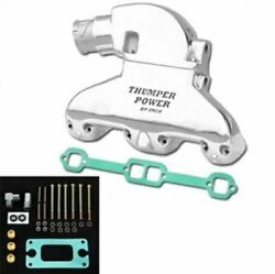 Imco Thumper Power Small Block Manifold And Riser Kit Polished 02-8308