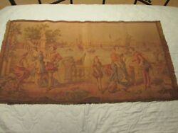 VINTAGE 20X36..VICTORIAN TAPESTRY...MADE IN BELGIUM